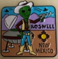 Touristy pin from the Roswell Museum